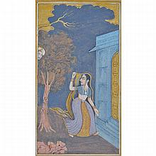 Mughal School, WOMAN RUNNING FROM A HEAD, 17TH CENTURY OR LATER