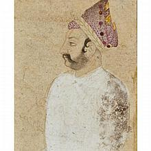 Indian School, PORTRAIT OF A PRINCE WITH PURPLE TURBAN, 17TH/18TH CENTURY