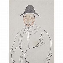 Korean School, TWO PORTRAITS, 19TH CENTURY