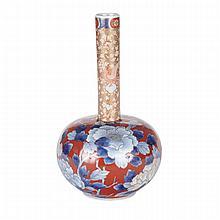 Fukagawa Bottle Vase, Meiji Period, 19th Century