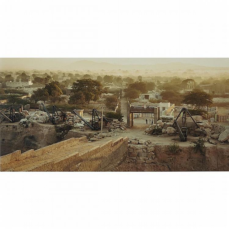 EDWARD BURTYNSKY, MAKRANA MARBLE QUARRIES #18, RAJASTHAN, 2000, chromogenic print, 22.5 ins x 45 ins; 57.2 cms x 114.3 cms