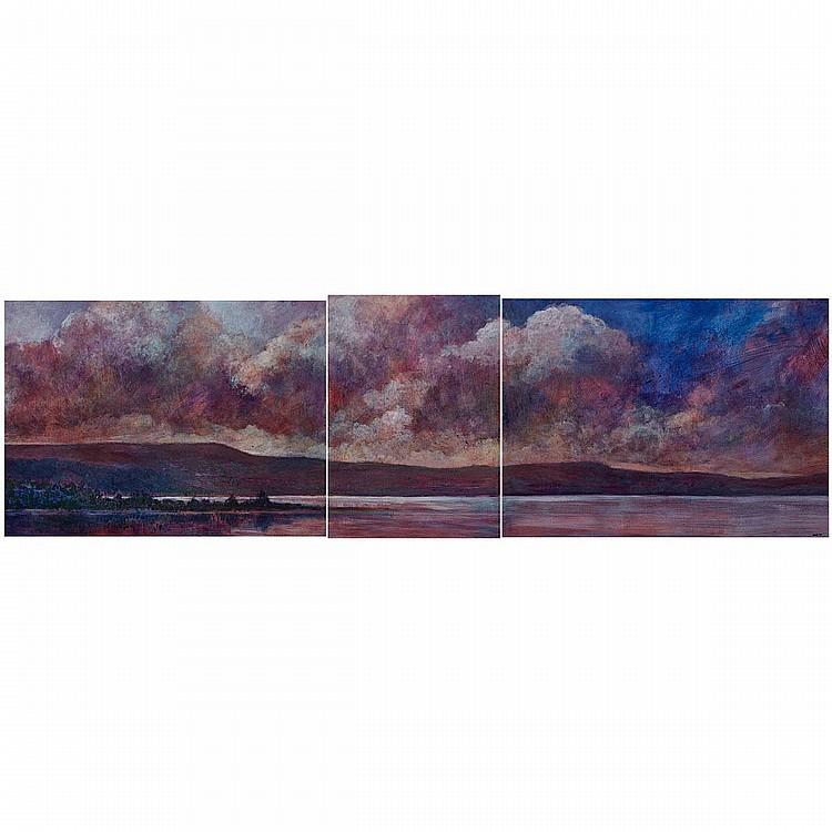 PHILIP CRAIG, UNTITLED LANDSCAPE, 40 ins x 54.5 ins; 40 cms x 54.5 cms; 40 ins x 29 ins; 101.6 cms x 73.7 cms (3 Pieces)