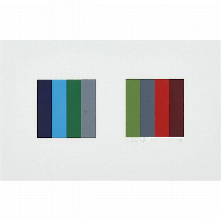 JAAN POLDAAS, TWELVE COLOUR PAIR, STUDY, collage, 9.5 ins x 15 ins; 24.1 cms x 38.1 cms