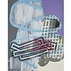 JOE FLEMING, ESCALATOR, enamel on polycarbonate, 46 ins x 36 ins; 116.8 cms x 91.4 cms