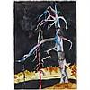 KIM DORLAND, DEAD TREE, watercolour, 42 ins x 29.5 ins; 106.7 cms x 74.9 cms