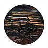 ALEX CAMERON, LAST LIGHT ON BAY FINN, oil on canvas, diameter 48 ins; 121.9 cms