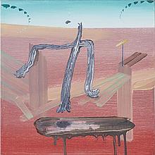 SCOTT EVERINGHAM, STALK, oil on canvas, 12 ins x 12 ins; 30.5 cms x 30.5 cms