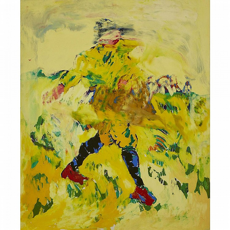 THOMAS ACKERMANN, MILLET'S SOWER AFTER VAN GOGH, oil on canvas, 68 ins x 56 ins; 172.7 cms x 142.2 cms