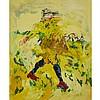 THOMAS ACKERMANN, MILLET'S SOWER AFTER VAN GOGH, oil on canvas, 68 ins x 56 ins; 172.7 cms x 142.2 cms