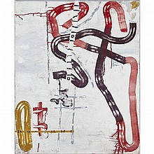 DAVID URBAN, R.C.A., SOLECISM, 1996, oil and wax on canvas, 39 ins x 32 ins; 99.1 cms x 81.3 cms