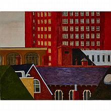 CHRIS TEMPLE, COMPOSITION #3, oil on canvas, 40 ins x 50 ins; 101.6 cms x 127 cms