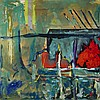 MATTHEW VAREY, THE RED HILL EXPRESSWAY, oil on canvas, 36 ins x 36 ins; 91.4 cms x 91.4 cms, Matthew  Varey, CAD0