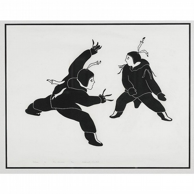 HARRY EGUTAK (1925-), W2-493, Holman TWO DANCERS,