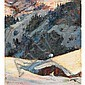 ERNEST LINDNER, R.C.A.,   TURRACH, KARINTHIA (SIC), ALPS, oil on canvas, laid down on board, 5 1/2 ins x 5 ins; 13.8 cms x 12.5 cms, Ernest Lindner, Click for value