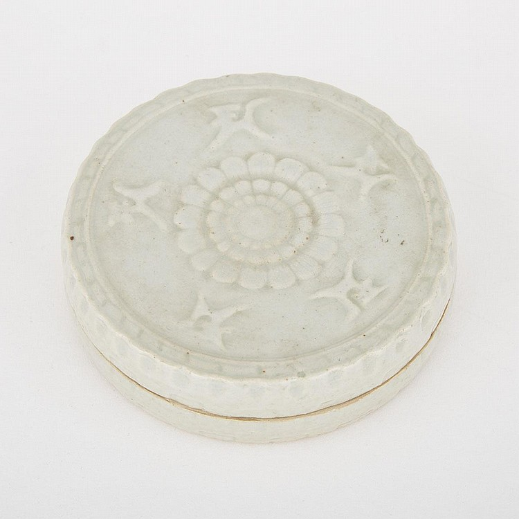 A Porcelain Cosmetic Box, Song Dynasty or Later, height 1.6