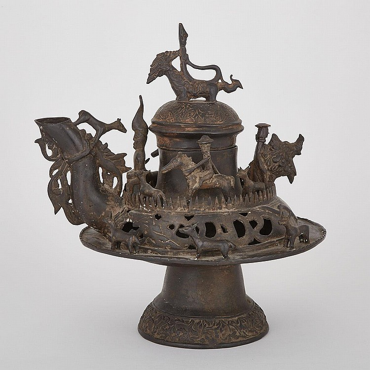 A Rare Bronze Pot, Brunei, Circa 16th Century, height 17.6