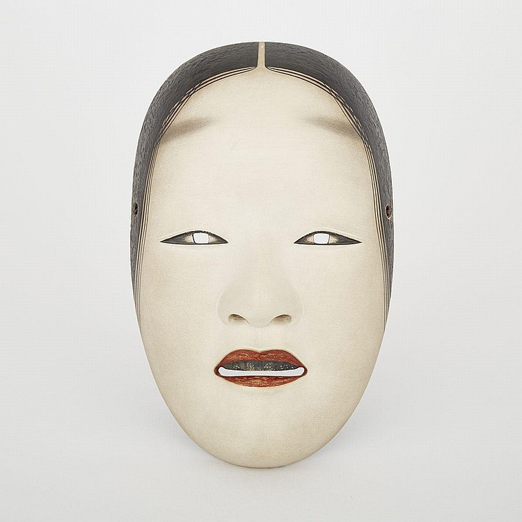 A Noh Mask of Ko-omote by Nagasawa Ujiharu (1912-2003), 20th Century, 8.3