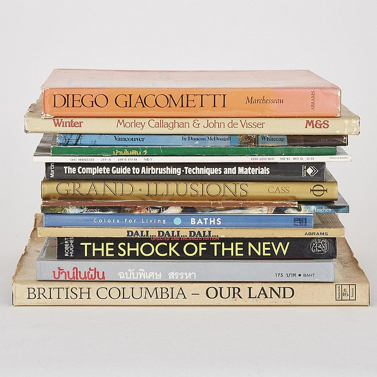 Group of Fourteen Art and Design Reference Books and Magazines (14 Pieces)