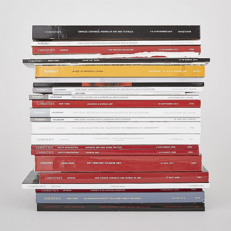 Group of Twenty- Six Christie's and Sotheby's Asian Art and Decorative Arts Catalogs (26 Pieces)