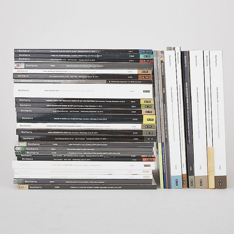 Group of Thirty- Four Important Bonhams Asian Art Catalogs (34 Pieces)
