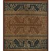 An Indonesian Head Hunter's Cloth, Framed, 28