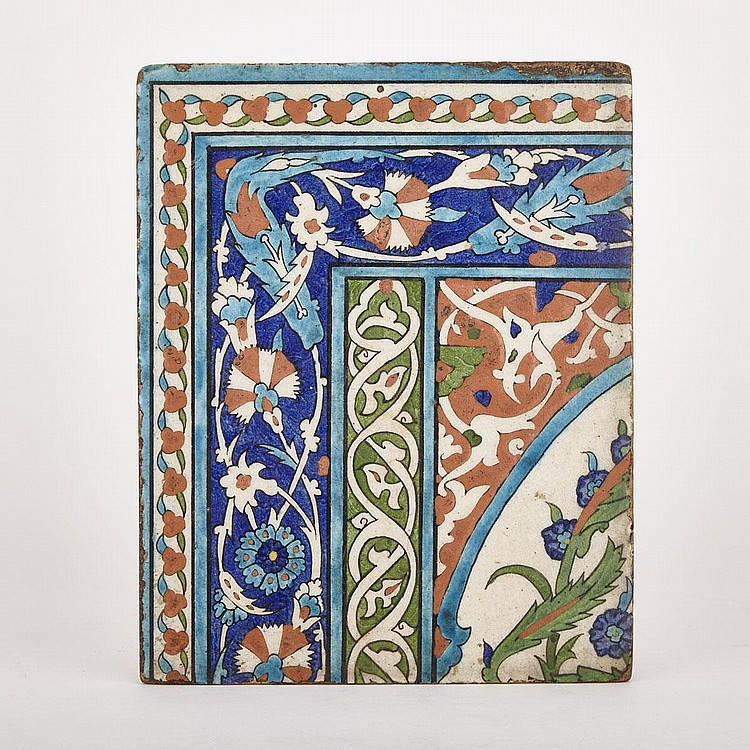 An Iznik Polychrome Tile, Turkey, 16th/17th Century, 9.8