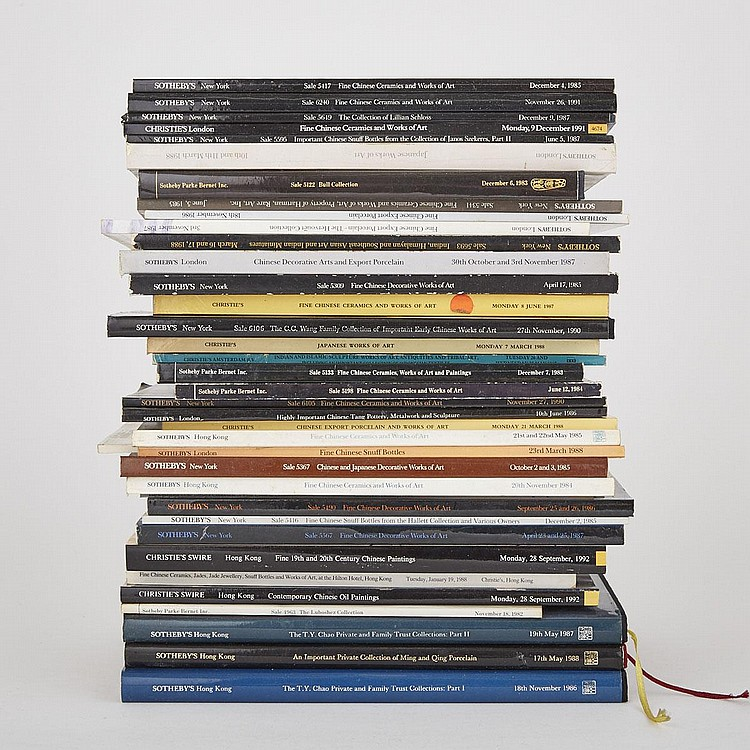 Group of Thirty-Eight Important Sotheby's and Christie's Catalogs, 1987-1992 (38 Pieces)