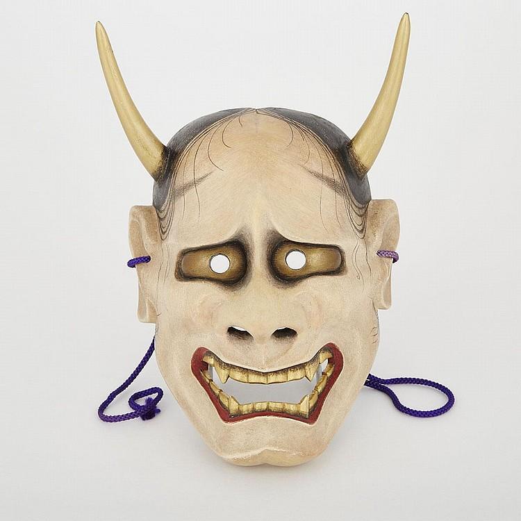 A Noh Mask of Hannya by Fujiwara Joko, 20th Century, 8.3