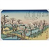 Group of Eight Hiroshige Woodblock Prints, 10