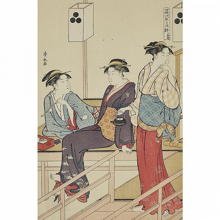 Group of Ten Hokusai and Harunobu Woodblock Prints, 10.6