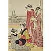 Group of Ten Hokusai and Harunobu Woodblock Prints, 10.6