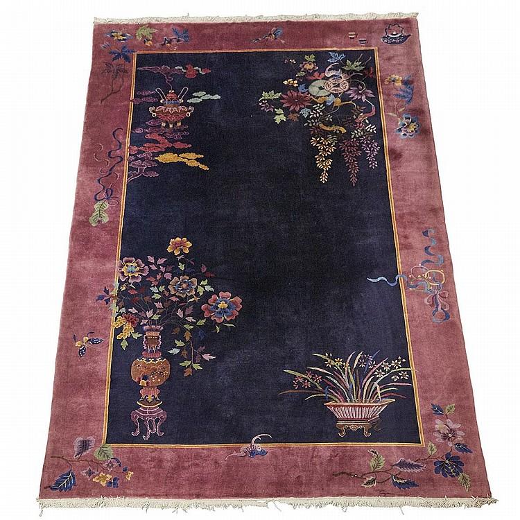 Nichols Art Deco Chinese Carpet, Circa 1920, 15'4