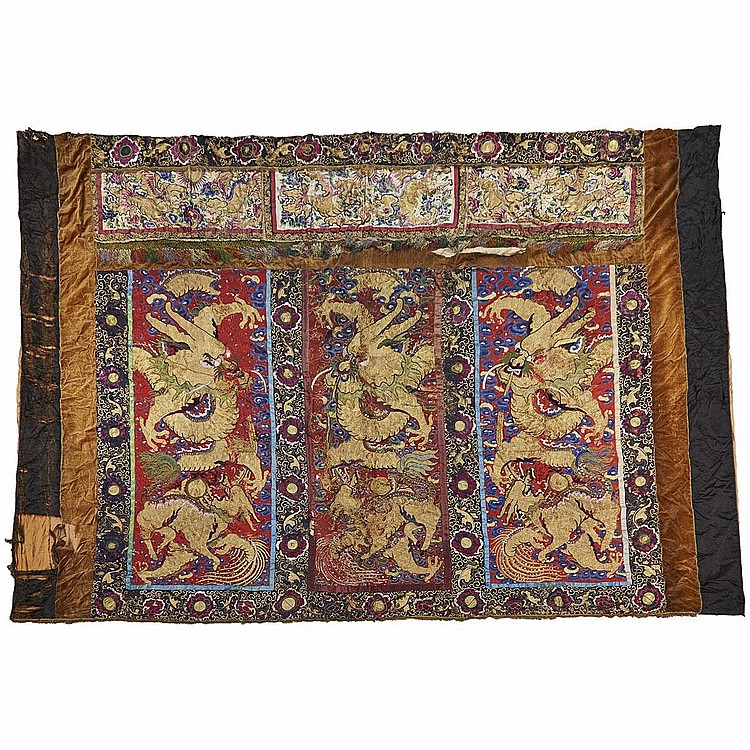 A Chinese Theatre Curtain, 19th Century, 140.9