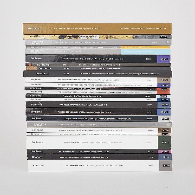 Group of Twenty- Five Important Bonhams Asian Art Catalogs (25 Pieces)