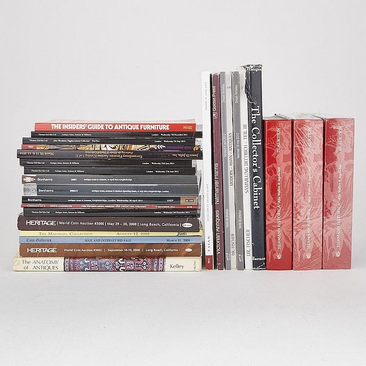 Group of Twenty- Seven Decorative Arts, Arms and Armour Auction Catalogs (27 Pieces)
