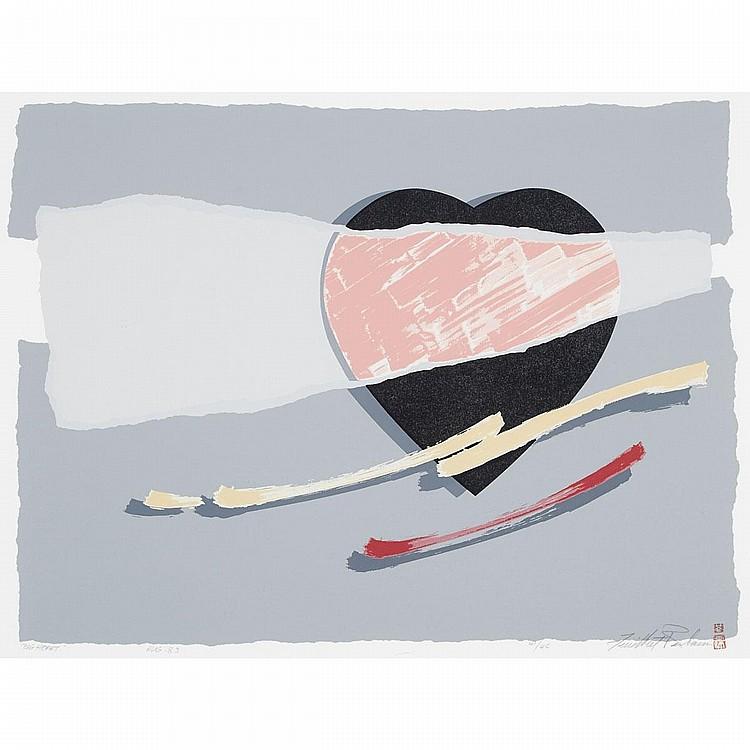 Modern Japanese Print, BIG HEART, 18.5