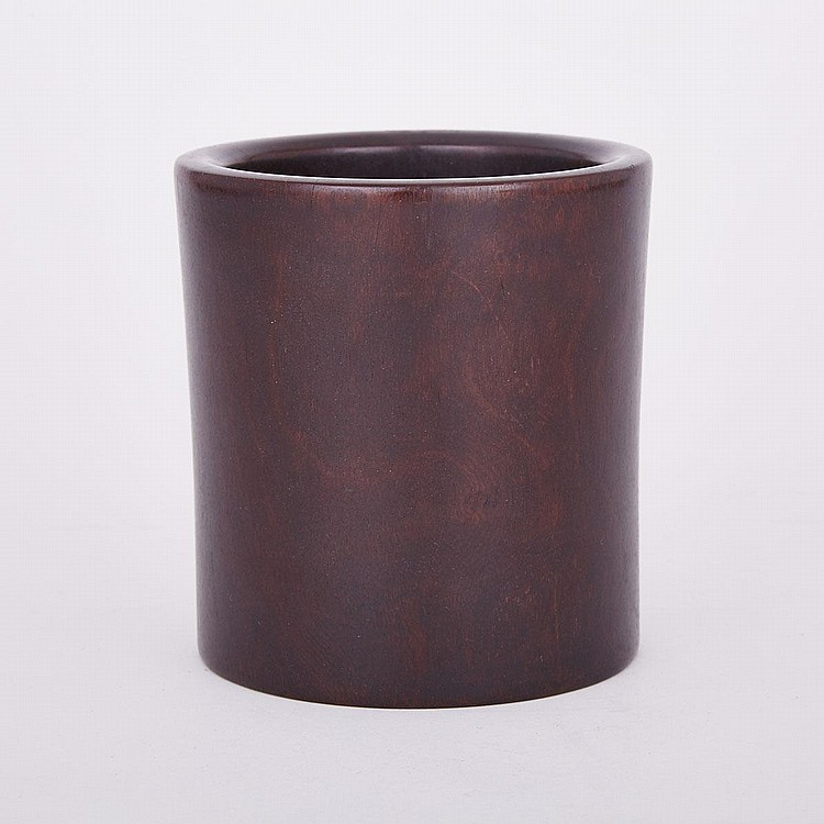 A Chicken Wing Wood Brush Pot, 5.2