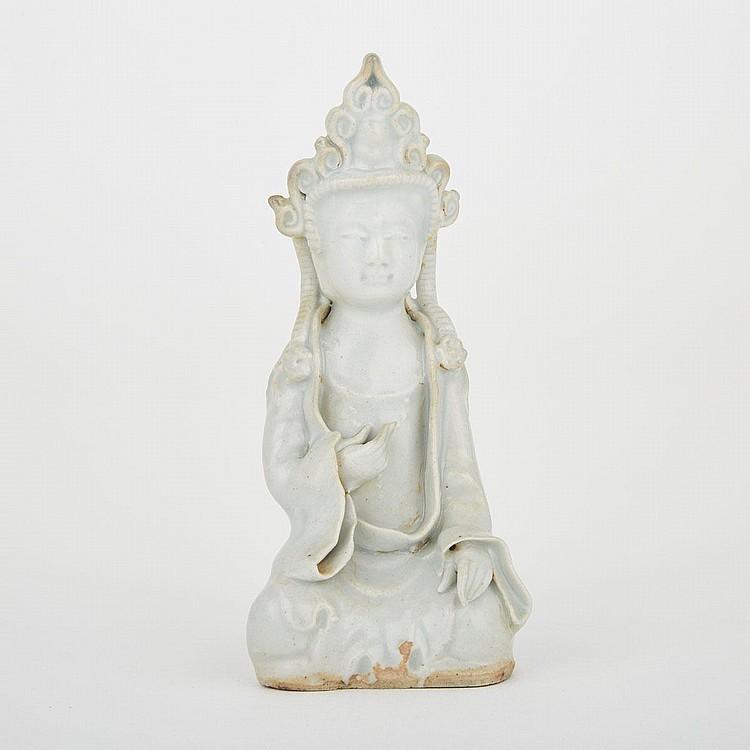 A Qingbai Yuan-Style Guanyin Statue, 5.1