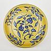 A Yellow- Ground Hongzhi Style Dish, Xuande Mark, diameter 10.8