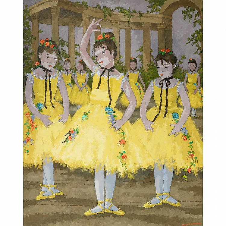 Suzanne Eisendieck (1908-1998), BALLET D'ENFANTS, Oil on canvas; signed lower right, titled verso, 37