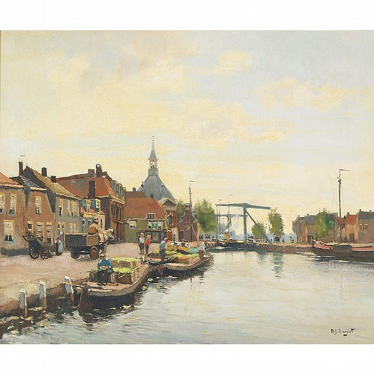 Adrianus (Arie) Johannes Zwart (1903-1981), LEIDSCHENDAM, HOLLAND, Oil on canvas; signed lower right, signed, titled and dated Oct. 1949 verso, 19