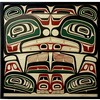 TONY HUNT (INDIGENOUS, 1942-), NORTHERN KWAKIUTL BOX DESIGN, SILKSCREEN; SIGNED, TITLED AND NUMBERED 60/100 (Note: water stains at bottom, see photos), 28