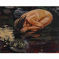 JACQUES PAYETTE SOUS L'EAU #3, oil and encaustic on canvas, laid down on panel; signed and dated 1995 24 ins x 30 ins; 60 cms x 75 cms Provenance: Galerie de Bellefeuille, Montreal. Private Collection, Toronto.