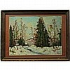 """JOHN HUBERT BEYNON (CANADIAN, 1890-1970), FIRST SNOW OF WINTER, OIL ON BOARD (under glass); SIGNED LOWER RIGHT; TITLED VERSO (Sight, 11.5"""" x 15.3""""), John H Beynon, Click for value"""
