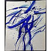 """GRAHAM CANTIENI (CANADIAN, 1938-), """"OPPOSITION 2 & 3"""", PAIR OF OILS ON PAPER; EACH SIGNED AND TITLED VERSO - Each sheet (23.8"""" x 18.8"""") (23.4"""" x 18.8"""") UNFRAMED"""