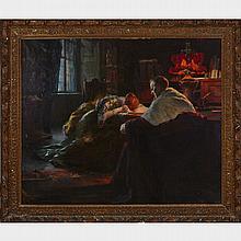 Luma von Flesch-Brunningen (1856 - 1934), DIE REUE (REPENTENCE), Oil on canvas; signed lower left, 51.5