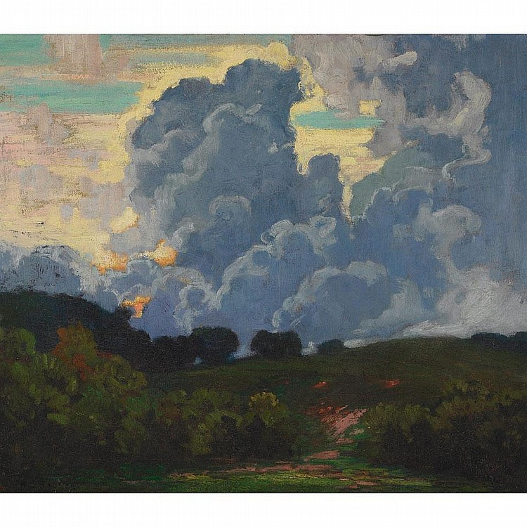 HERBERT SIDNEY PALMER, O.S.A., R.C.A., CUMULOUS CLOUDS, HUMBER VALLEY, oil on canvas, 26 ins x 30 ins; 60 cms x 75 cms