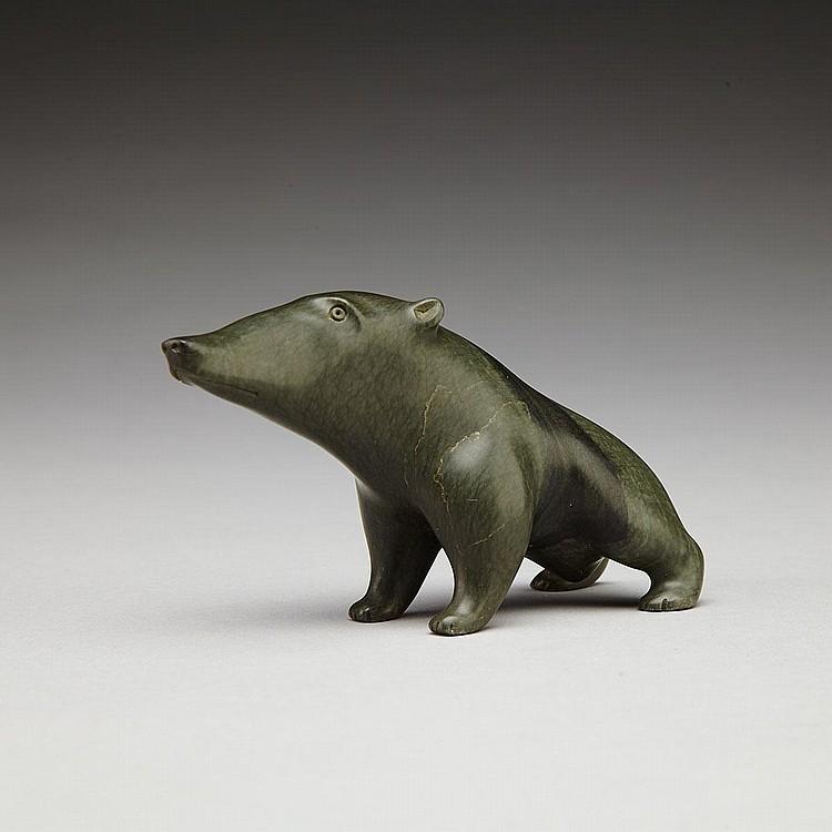 JOHNNY MEEKO SR. (1933-), BOAR, stone, 2.4