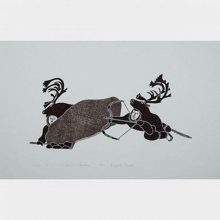REX GOOSE (1965-), MISTAKEN IDENTITIES, stonecut (framed), 16.25