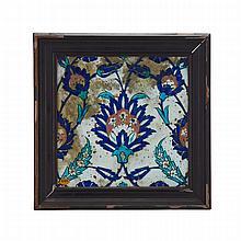 Iznik Floral Tile, Turkey, 16th/17th Century